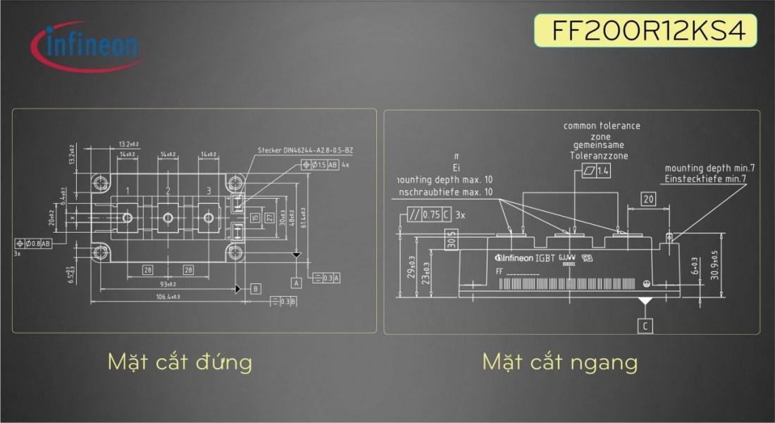 igbt ff100r12ks4 bài viết 2 mặt cắt