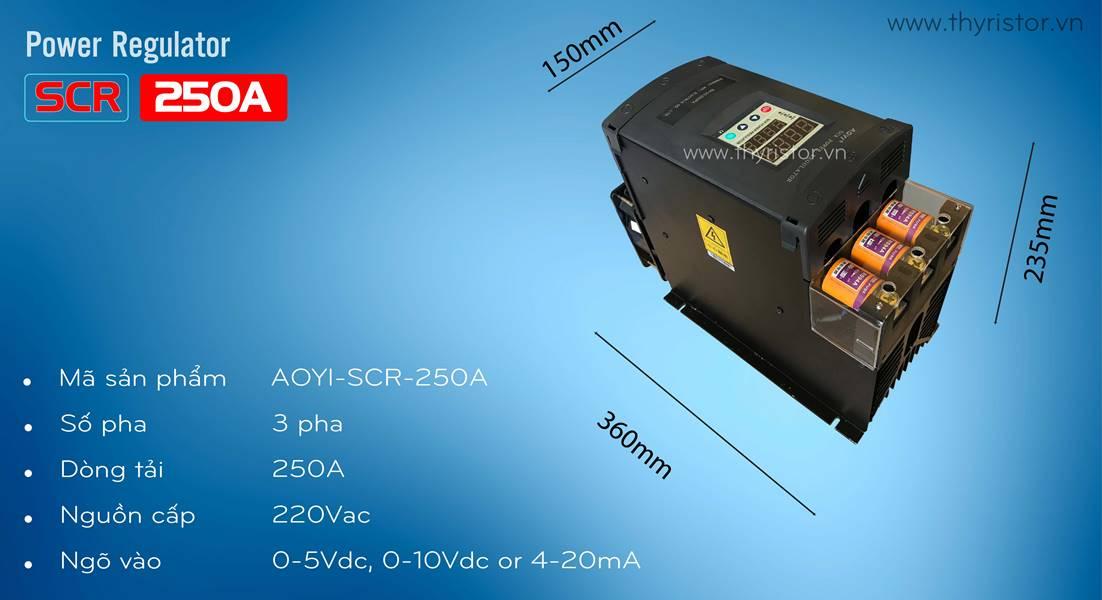 bộ điều khiển công suất 3 pha 250a