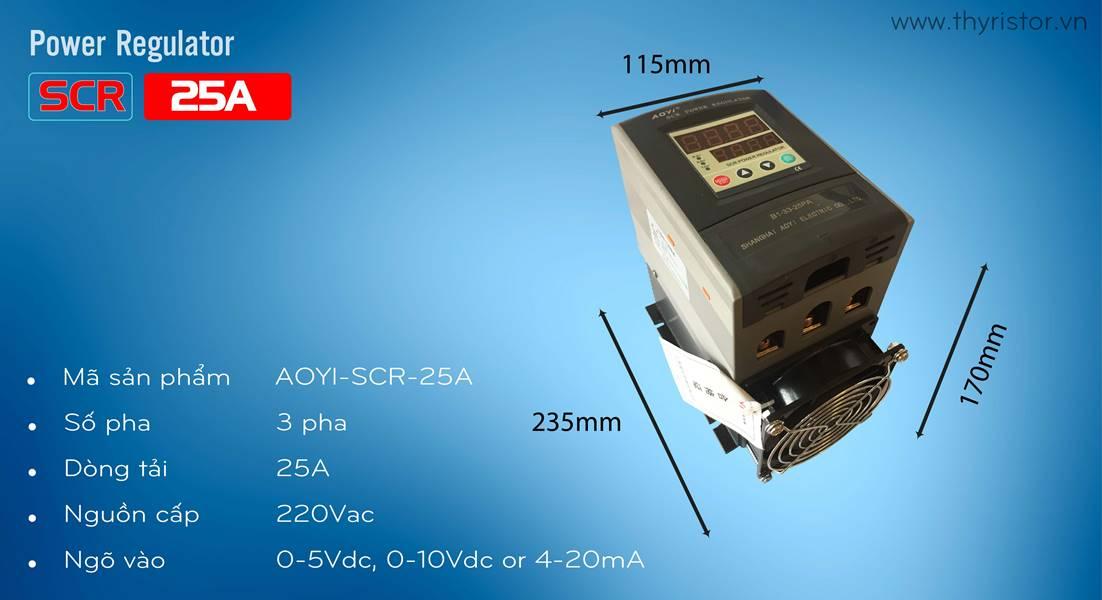 bộ điều khiển công suất 3 pha 25a