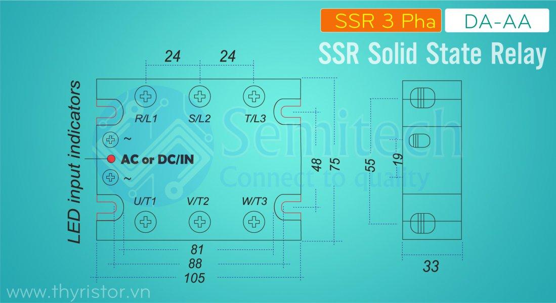 SSR 3 Pha 10A, SSR 3 Pha 25A, SSR 3 Pha 40A, SSR 3 Pha 60A, SSR 3 Pha 80A, SSR 3 Pha 100A, SSR 3 Pha 120A, SSR 150A, SSR 200A (1)