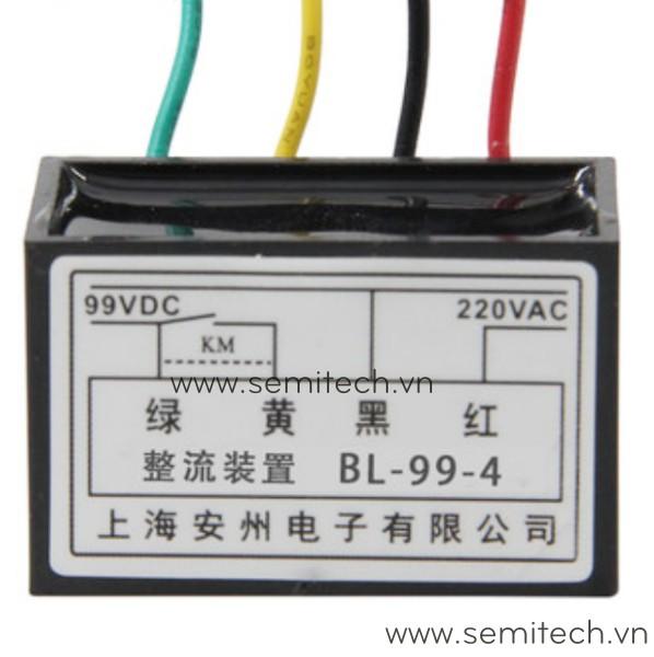 Phanh chinh luu dong co, diot thang BL-99-4 220Vac 99vdc 1