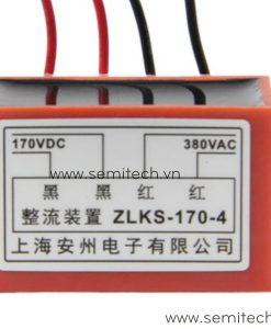 Phanh chinh luu dong co, diot thang cau truc ZLKS-170-4 380Vac 170vdc