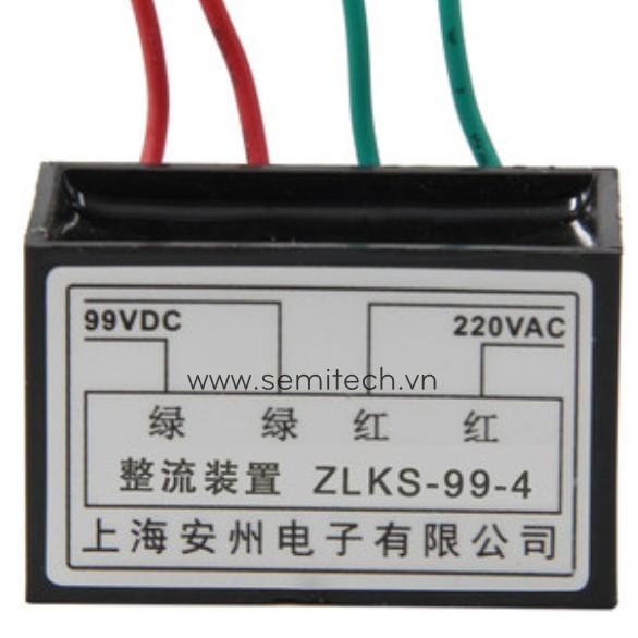 Phanh chinh luu dong co, diot thang cau truc ZLKS-99-4 220Vac 99vdc