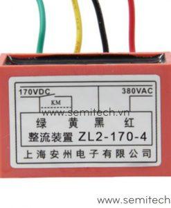 ZL2-170-4 Phanh chinh luu dong co, diot thang 220Vac 99vdc 1